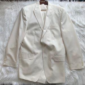 Sean John Ivory 3-Piece Suit (42L, 38x34)